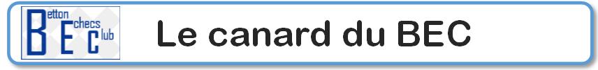 LE CANARD DU BEC